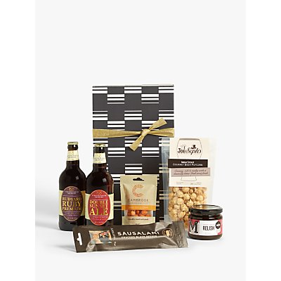 John Lewis & Partners Beer & Nibbles Small Gift Box