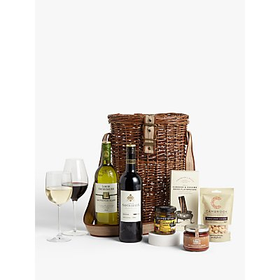 John Lewis & Partners Wine Duo and Nibbles Christmas Hamper