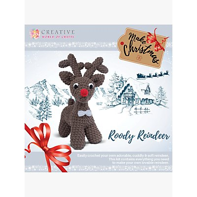 5052201060142 | Knitty Critters Rudolf The Red Nose Reindeer Crochet Kit
