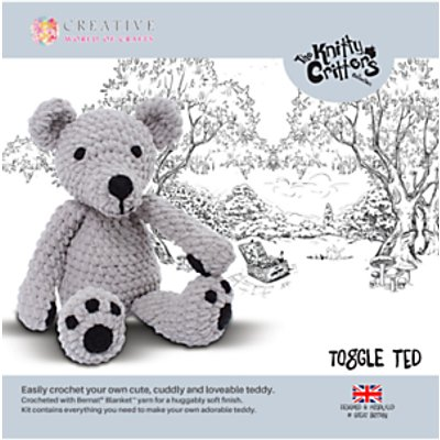 Knitty Critters Toggly Teddy Bear Crochet Kit 5052201036413