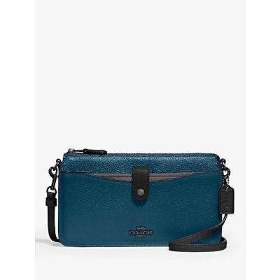 Coach Noa Pebbled Leather Cross Body Bag, Peacock/Multi