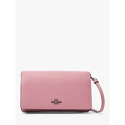 Coach Hayden Flapover Leather Cross Body Bag, True Pink
