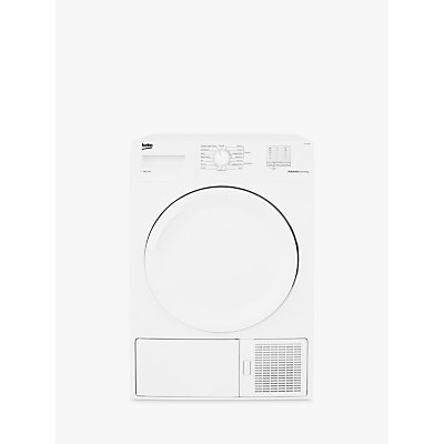 Beko DTGP7000W Freestanding Slim Depth Heat Pump Tumber Dryer, 7kg Load, A+ Energy Rating, White