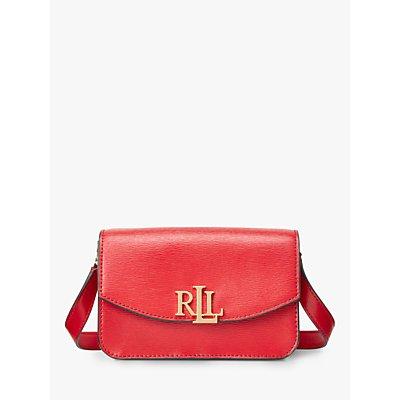 Lauren Ralph Lauren Elmswood Madison 18 Leather Cross Body Bag, Red