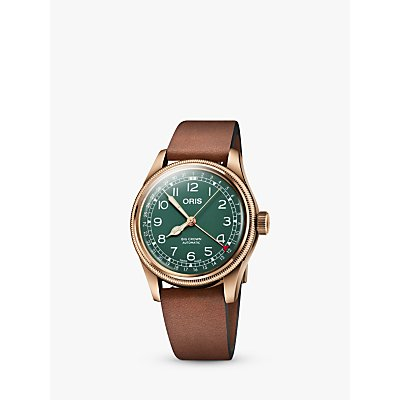 7612611031712 | Oris 01 754 7741 3167 07 5 20 58BR Men s Big Crown Pointer Date 80th Anniversary Leather Strap Watch  Brown Green