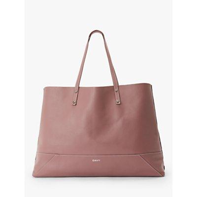 DAY et Shine Leather Shopper Bag, Metallic Pink