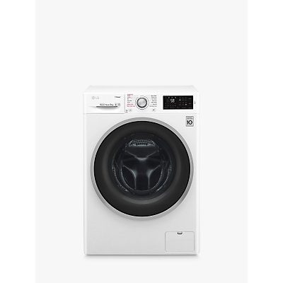 LG F4J609WS Freestanding Washing Machine, 9kg Load, A+++ Energy Rating, 1400rpm Spin, White