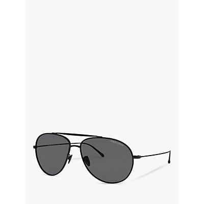 Giorgio Armani AR6093 Men s Polarised Aviator Sunglasses  Matte Black Grey - 8056597077941
