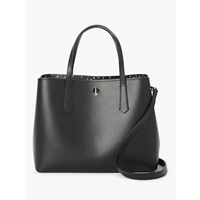 kate spade new york Molly Meadow Leather Tote Bag, Black