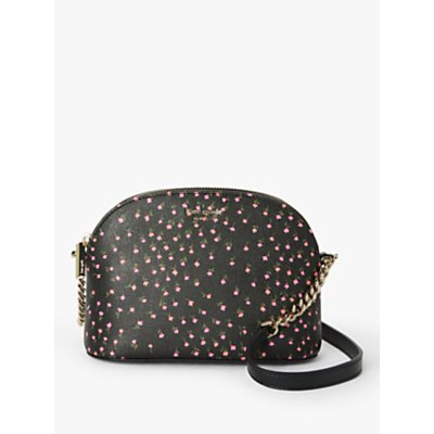 kate spade new york Sylvia Leather Small Dome Cross Body Bag, Meadow Black