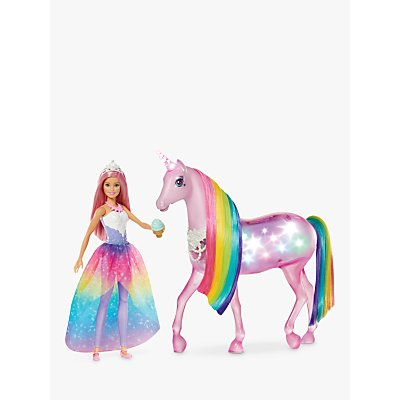 Barbie Dreamtopia Magical Lights Unicorn & Doll