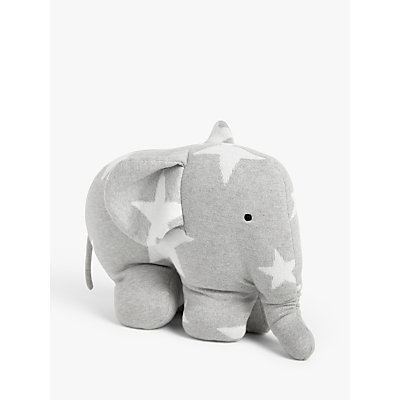 little home at John Lewis Knitted Elephant Soft Toy  Grey - 5059139078478