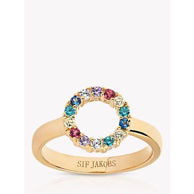 Sif Jakobs Jewellery Cubic Zirconia Open Centre Round Ring  Gold Multi - 5710698062673