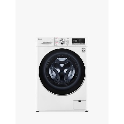 LG FWV585WS Freestanding Washer Dryer, 8kg Wash/5kg Dry Load, A Energy Rating, 1400rpm Spin, White