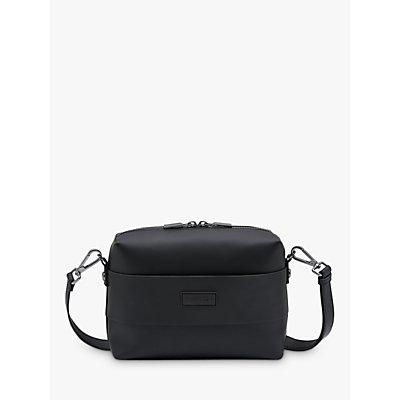 Hunter Original Rubberised Leather Crossbody Bag, Black