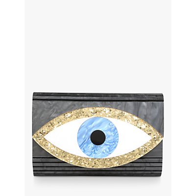 Kurt Geiger London Eye Party Envelope Clutch Bag, Black