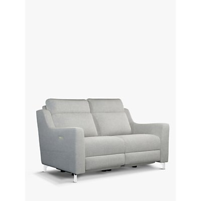 John Lewis & Partners Elevate Medium 2 Seater Power Recliner Sofa, Metal Leg, Connie Grey