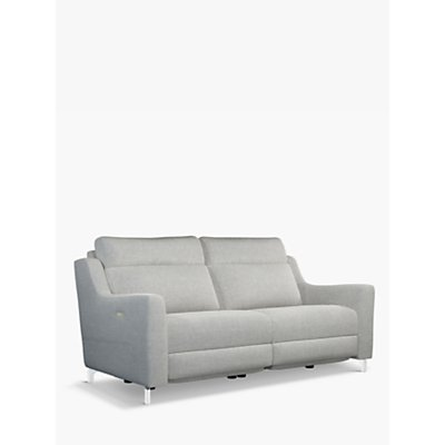 John Lewis & Partners Elevate Large 2 Seater Power Recliner Sofa, Metal Leg, Connie Grey