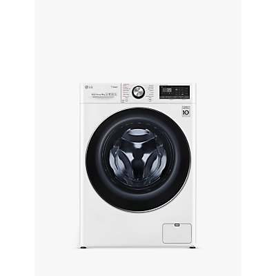 LG F4V909WTS Freestanding Washing Machine, 9kg Load, A+++ Energy Rating, 1400rpm Spin, White
