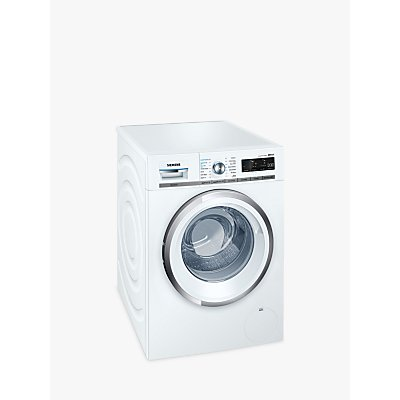 Siemens WM14W750GB iQ500 Freestanding Washing Machine, 9kg Load, A+++ Energy Rating, 1400rpm Spin, White