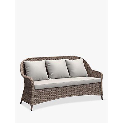 John Lewis & Partners Rye 3-Seat Garden Sofa, Natural