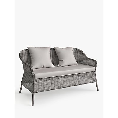 John Lewis & Partners Hoxton 2-Seat Garden Sofa, Grey