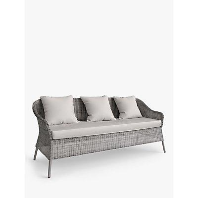 John Lewis & Partners Hoxton 3-Seat Garden Sofa, Grey