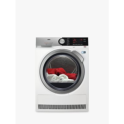 AEG T9DEC866R Heat Pump Tumble Dryer, 8kg Load, A+++ Energy Rating, White
