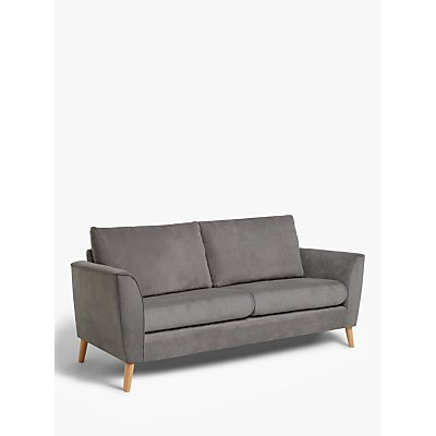John Lewis & Partners Flare Medium 2 Seater Sofa, Light Leg, Grace Charcoal