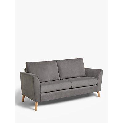 John Lewis & Partners Flare Small 2 Seater Sofa, Light Leg, Grace Charcoal