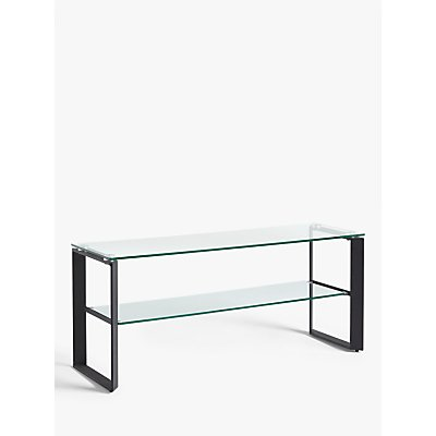 John Lewis & Partners Tropez TV Stand for TVs up to 60, Clear/Black