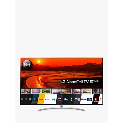 "LG 75SM9900PLA (2019) LED HDR NanoCell 8K Ultra HD Smart TV, 75"" with Freeview Play/Freesat HD, Cinema Screen Design, Dolby Atmos & Crescent Stand, Black"