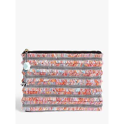 John Lewis & Partners Geometric Fringe Clutch Bag