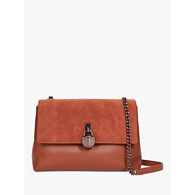 Ted Baker Helena Padlock Detail Leather Cross Body Bag