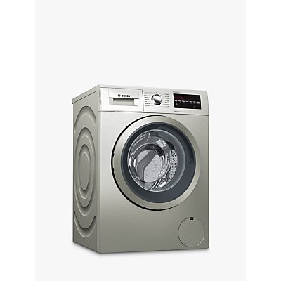 Bosch WAT2840SGB Freestanding Washing Machine, 9kg Load, A+++ Energy Rating, 1400rpm, Silver