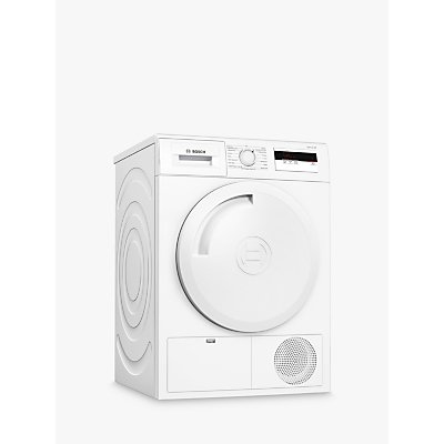 Bosch Serie 4 WTH84000GB Heat Pump Freestanding Tumble Dryer, 8kg, A+ Energy Rating, White