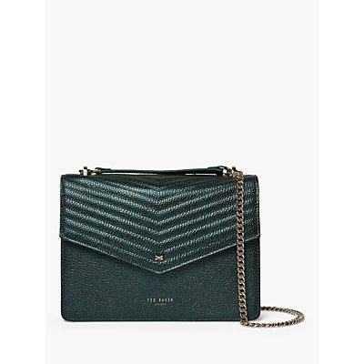 Ted Baker Kamille Leather Crossbody Bag, Dark Green