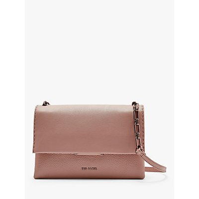 Ted Baker Diilila Leather Cross Body Bag, Pink