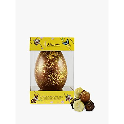 Holdsworth Gold Speckled Milk Chocolate Easter Egg with Truffles, 300g