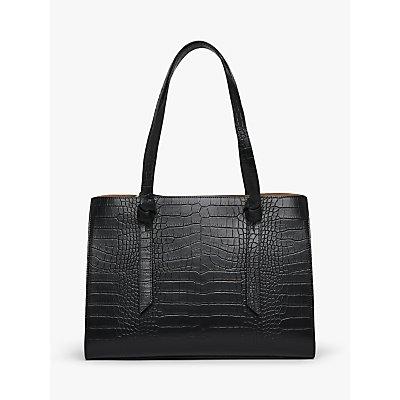 L.K.Bennett Sasha Texture Leather Tote Bag, Black