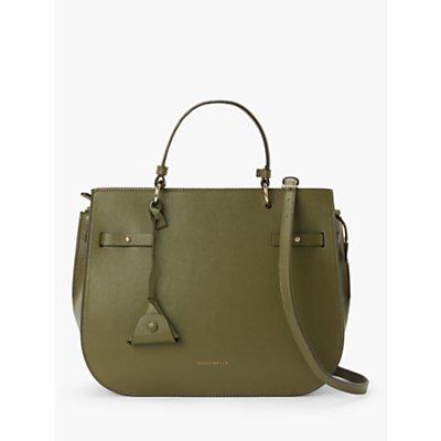 Coccinelle Didi Cabas Leather Shoulder Bag, Green