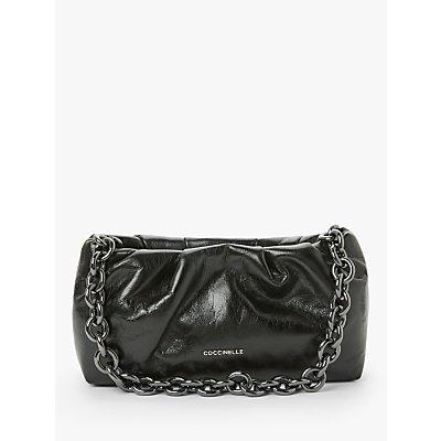 Coccinelle Rivea Azalea Leather Shoulder Bag, Black
