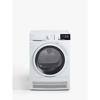 John Lewis & Partners JLTDC08 Condenser Tumble Dryer, 8kg Load, B Energy Rating, White