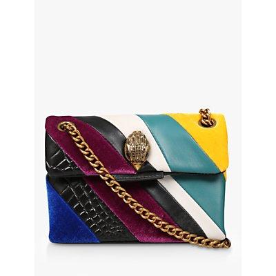 Kurt Geiger London Mini Kensington Leather Cross Body Bag, Textured Multi