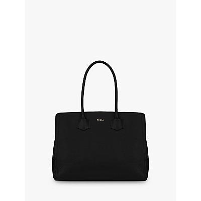 Furla Alba Large Leather Tote Bag, Nero