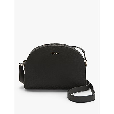 DKNY Logo Medium Dome Cross Body Bag