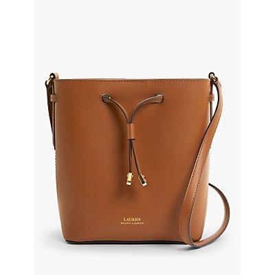 Lauren Ralph Lauren Dryden Debby Leather Mini Bucket Bag, Tan