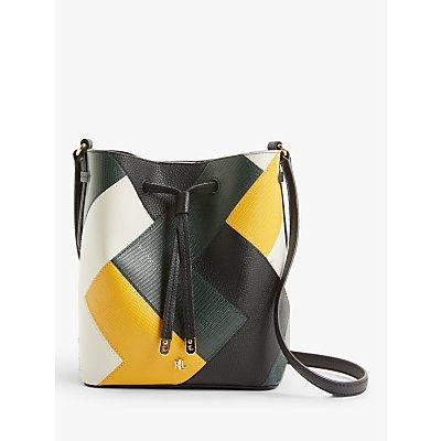 Lauren Ralph Lauren Debby Leather Mini Bucket Bag, Multi