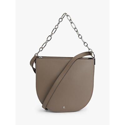Lauren Ralph Lauren Sawyer Leather Shoulder Bag, Taupe