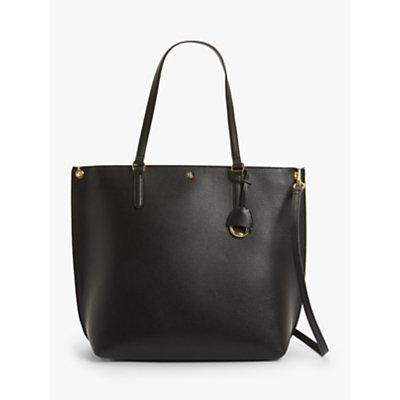 Lauren Ralph Lauren Abby 33 Leather Shopper Bag, Black